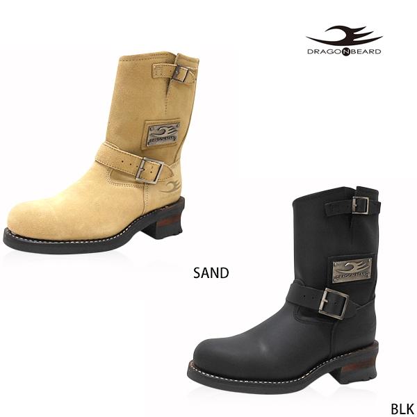 ドラゴンベアード メンズ エンジニアブーツ DRAGON BEARD DX-1006 エンジニアブーツ メンズ ブーツ エンジニアブーツ ドラゴンベアード メンズ エンジニアブーツ メンズ靴 ショートブーツ ベージュ ブラック 黒 おしゃれ かっこいい カジュアル 26.0cm 27.0cm 28.0cm