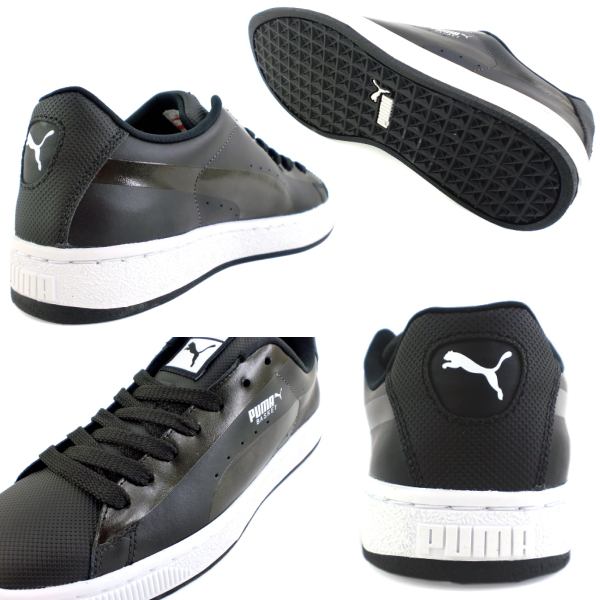 供彪马人运动鞋PUMA BASKET 2 CLEAN 352176彪马篮球2清洁男性使用的men's sneaker ●