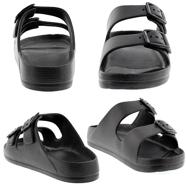 供供凉鞋2部皮带EVA休闲凉鞋人分歧D凉鞋男性使用的女性使用的黑白6万3268/61573●