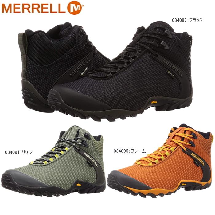 メレル トレッキングシューズ カメレオン 8 ストーム ミッド ゴアテックス メンズ スニーカー MERRELL CHAMELEON 8 STORM MID GORE-TEX 防水 登山靴