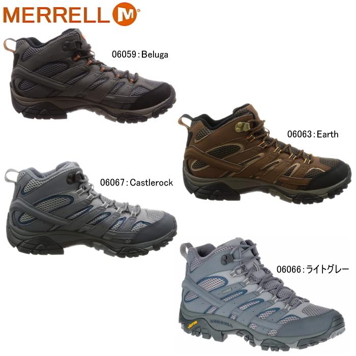 あす楽 送料無料 メレル モアブ2ミッド ゴアテックスMERRELL MOAB 2 GORE-TEX トレッキングシューズ 登山靴