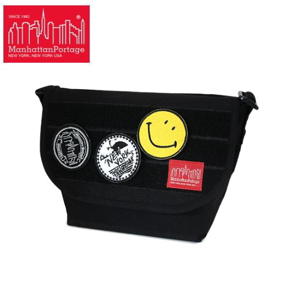 即納 送料無料 マンハッタンポーテージ スマイリー・フェイス メッセンジャーバッグ MP1605JRHLE 数量限定 Manhattan Portage Emblems Bag -Emblem of SMILEY FACE- Casual Messenger Bag