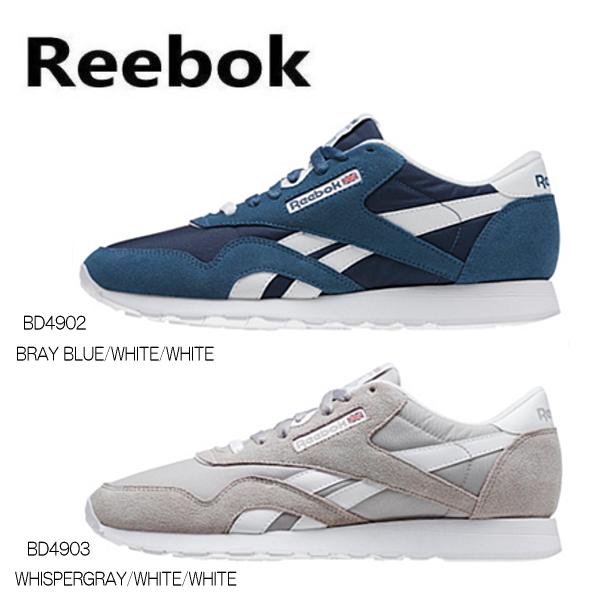 Reebok Nylon Classique Bleu Et Blanc lBODIT