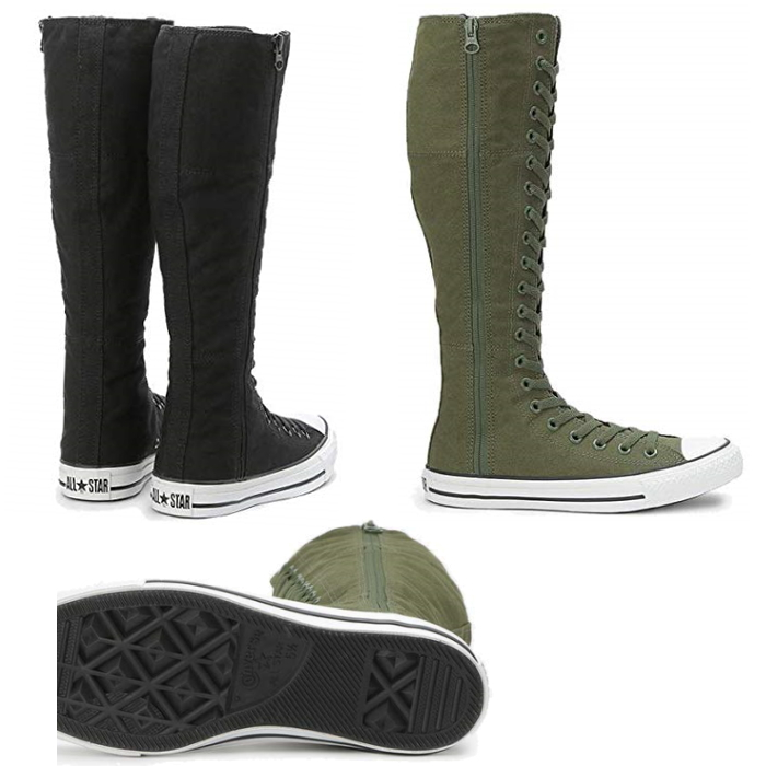 Converse all stars CONVERSE ALL STAR XX HI campus Lady's knee high boots sneakers race up black black khaki stylish casual Lady's shoes canvas 22.5cm