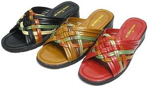 お手軽 お気楽 靴を履くのが面倒な時に ギフト 手軽なつっかけ レディス 特別セール品 編み込みサンダル No.497