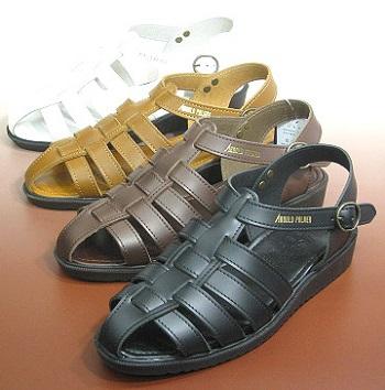 購入 履く程に足に馴染む 本革製のバックバンドサンダルです 日本製 アーノルドパーマー 本革ドライビングサンダル AP6611 メンズ 物品 28cm対応
