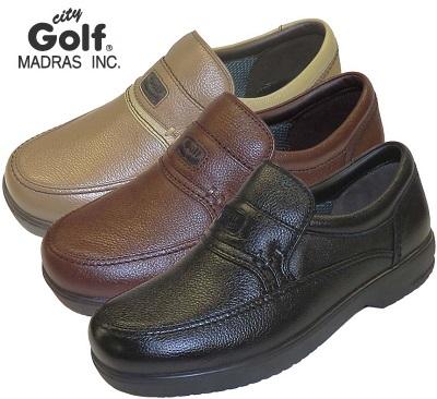 脱ぎ履き簡単 幅広 甲高の方にもおススメな幅広モデル city Golf メンズ 結婚祝い マドラスシティゴルフ 4Eモデル GF901 セール ビジネス スリッポン カジュアル 普段履き