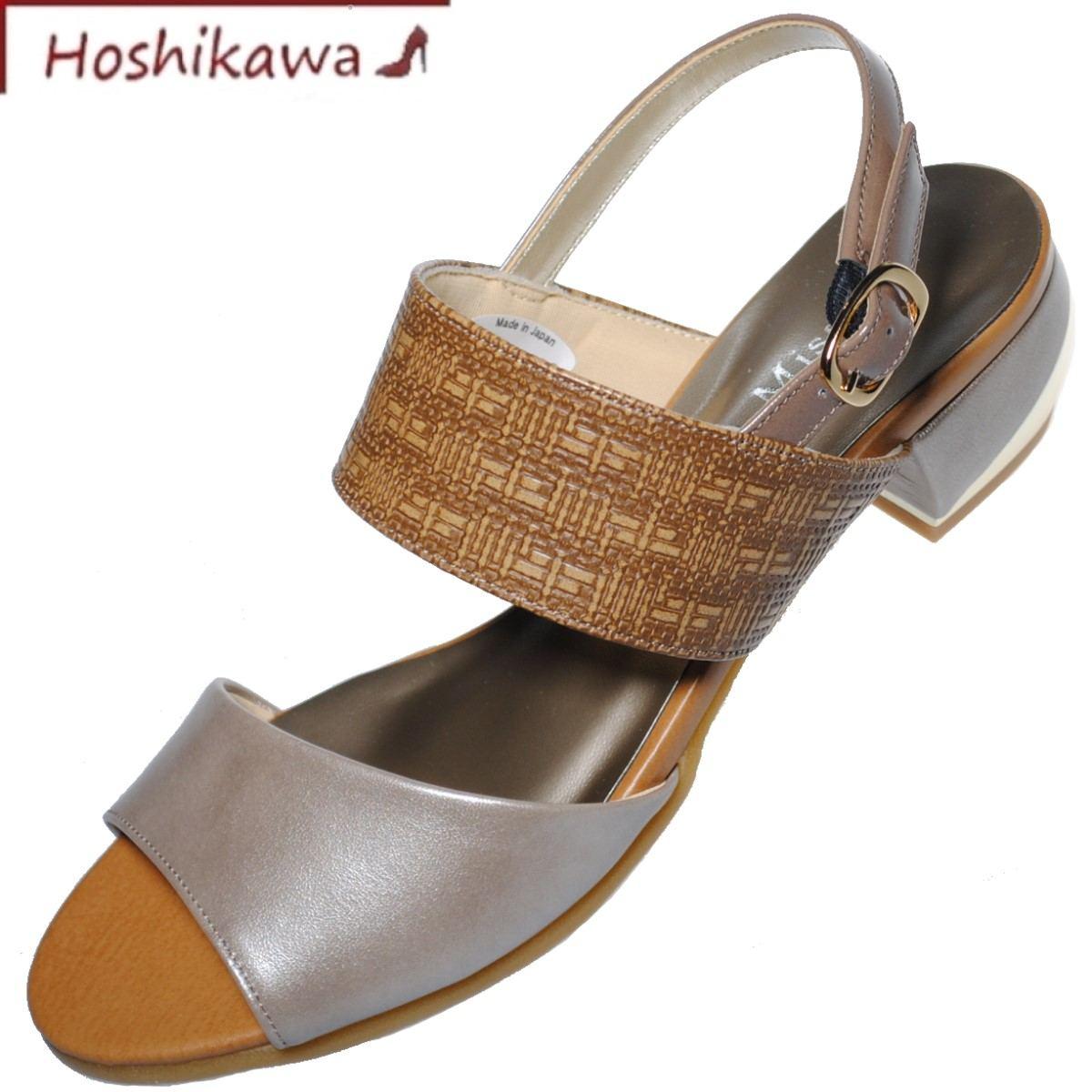ドナミス サンダル 在庫一掃 バックバンド ローヒール 日本製 牛革 靴のHOSHIKAWA Miss Dona 期間限定特別価格 22cm~24.5cm 6726 EEE