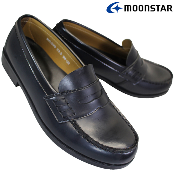 ラッピング無料 ムーンスター MOONSTAR ブラバス BRAVAS 正規激安 Lapel BVL530 黒 キッズ レディース スクールシューズ 学生靴 ローファー