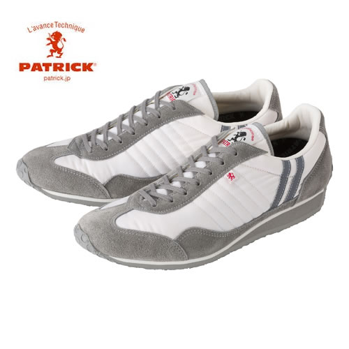 PATRICK パトリック メンズ レディース スニーカー 靴 スタジアム STADIUM ホワイト/グレー(23130)