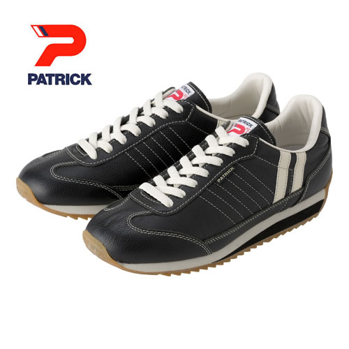 PATRICK パトリック メンズ レディース スニーカー 靴 マラソン レザー MARATHON-LEATHER  ブラック (98701)