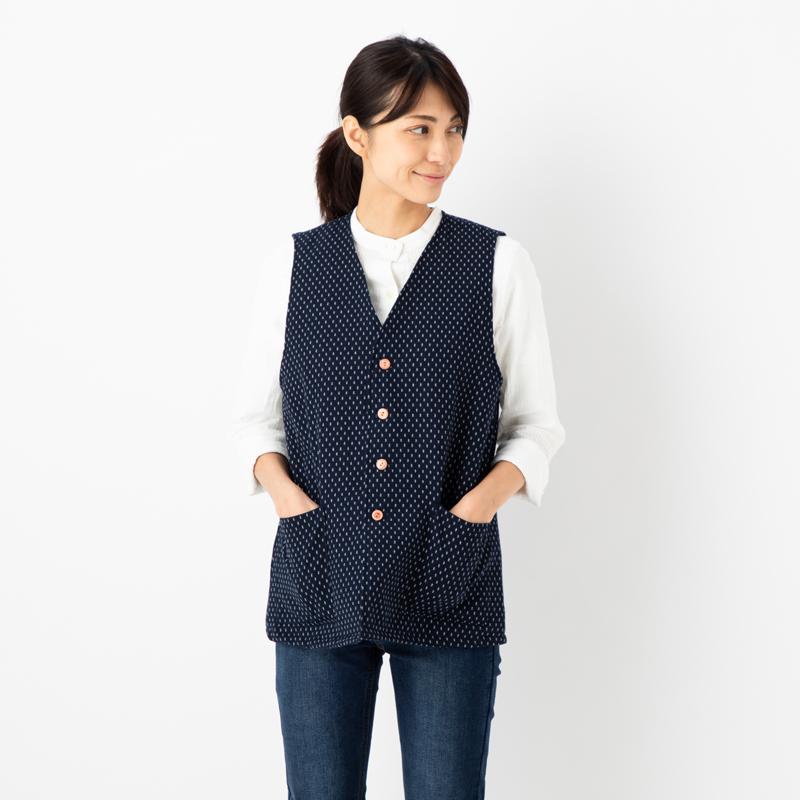 入荷予定 温度調節やコートのインナーにも 軽くて温かいキルティングベスト 中綿キルティングベスト 男女兼用で着用可 日本製久留米産 セール商品 ドビー織