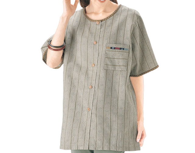 "★ You ★ tokamachi woven blouse ★ Kasuri patchwork with ★ 60th birthday celebration, congratulation, family, mother's day & gifts! ■ ""that offers"" ■ made in Japan fs3gm"