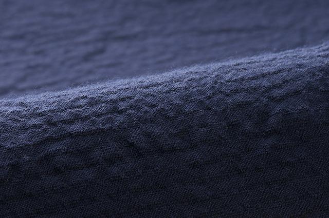 ちぢみ織 無地紺 値下げ 綿100%生地 数量限定アウトレット最安価格 日本製久留米産 幅150cm
