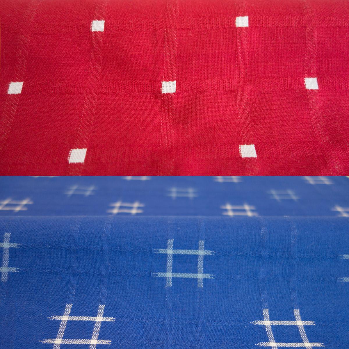 先染ドビー織井桁柄 四角柄 豪華な 完全送料無料 綿100%生地 幅150cm 日本製久留米産刺子調