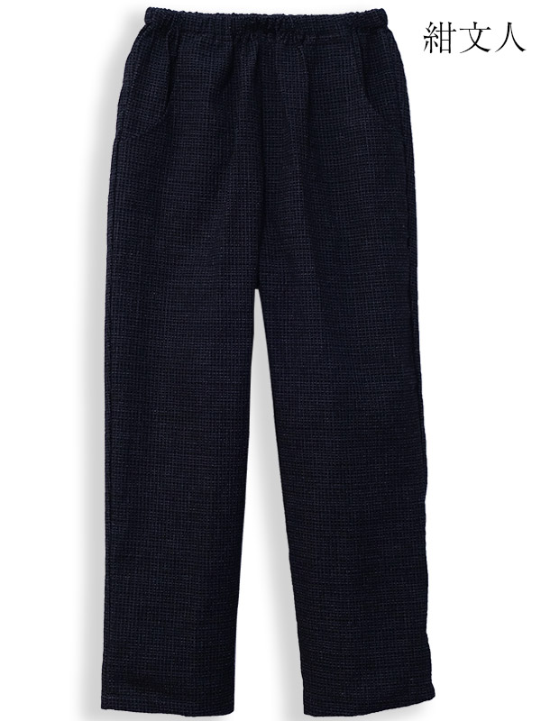 For women, Jinbei, じんべい, mother day Kurume Kasuri, Kurume Kaori, ちぢみ織 women's pants made in Japan fs3gm