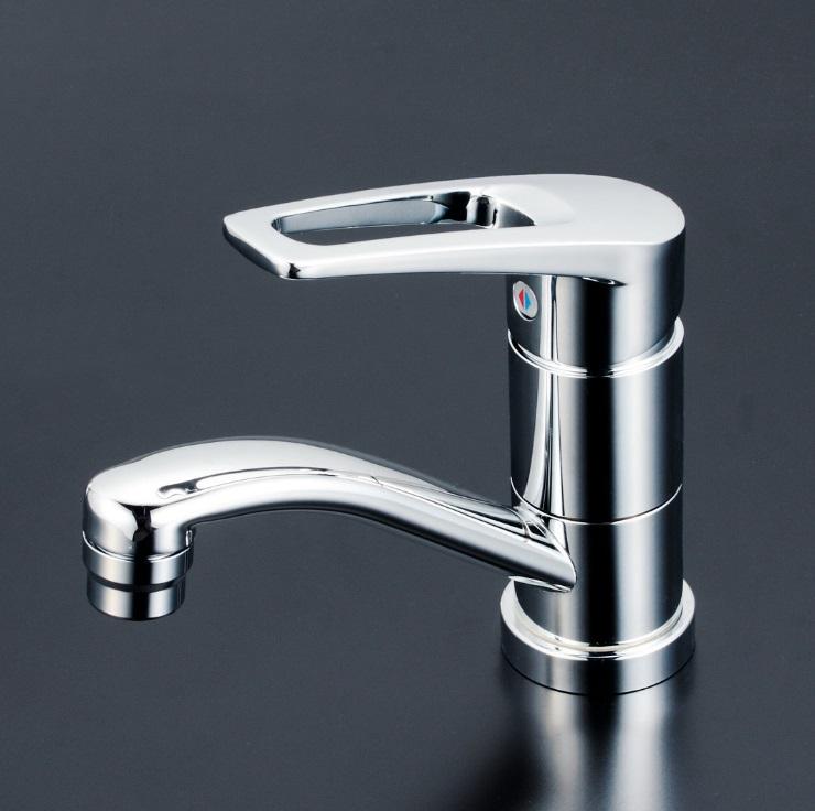 【KM7011ZT】洗面用シングルレバー式混合栓 吐水口回転規制80°