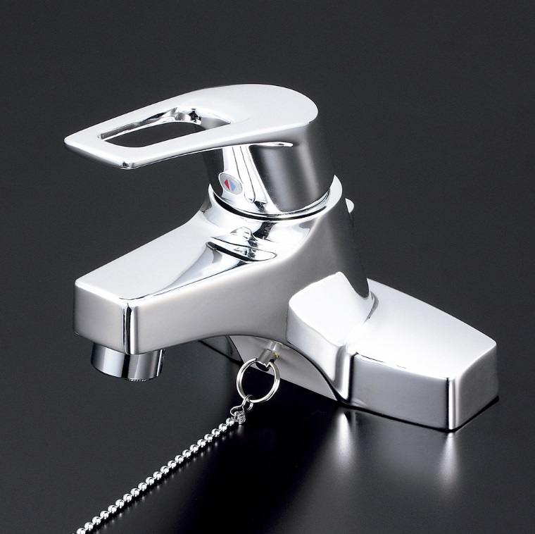 【KM7014THP】洗面用シングルレバー混合栓ポップアップ式