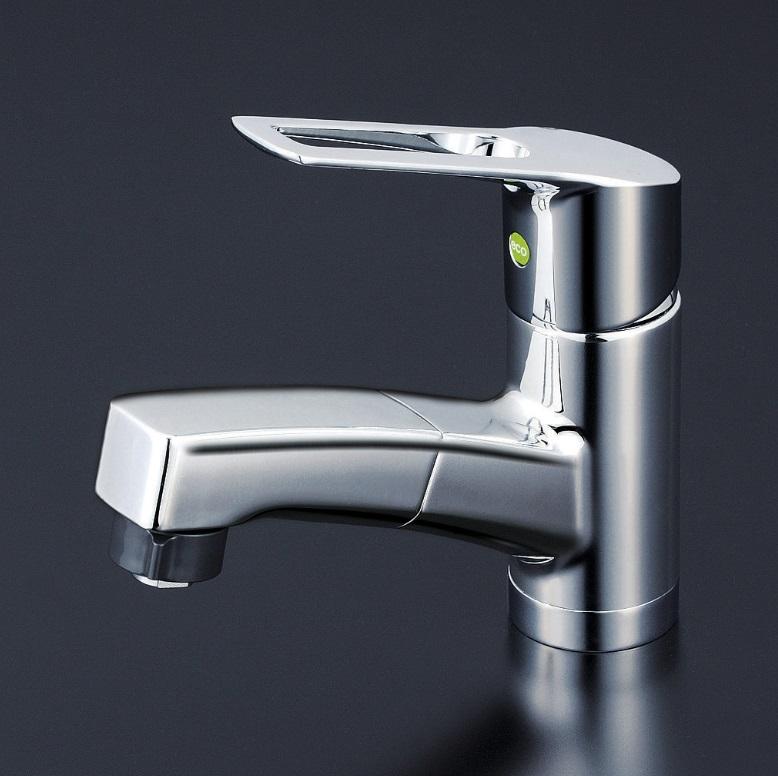 【KM8001ZTFEC】洗面用シングルレバー式シャワー付混合栓(eレバー)