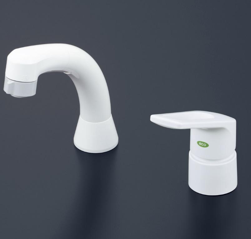 【KM8007ZCNEC】洗面用シングルレバー式シャワー ヒートン付仕様(eレバー)