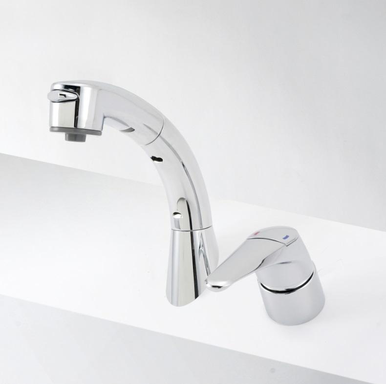 【KM8019ZT】洗面台用シングルレバー式シャワー