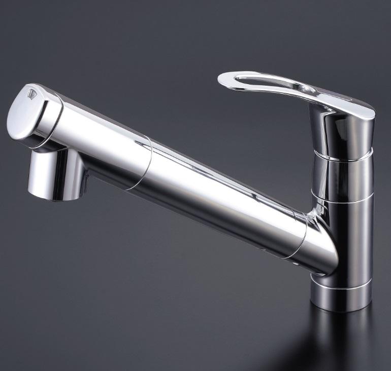 【KM871】浄水器内蔵シングルレバー式シャワー付混合栓 シャワー引出式
