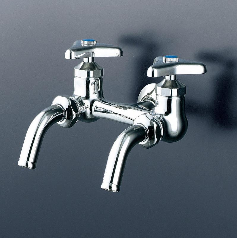 【K112】二口万能ホーム水栓ビス止