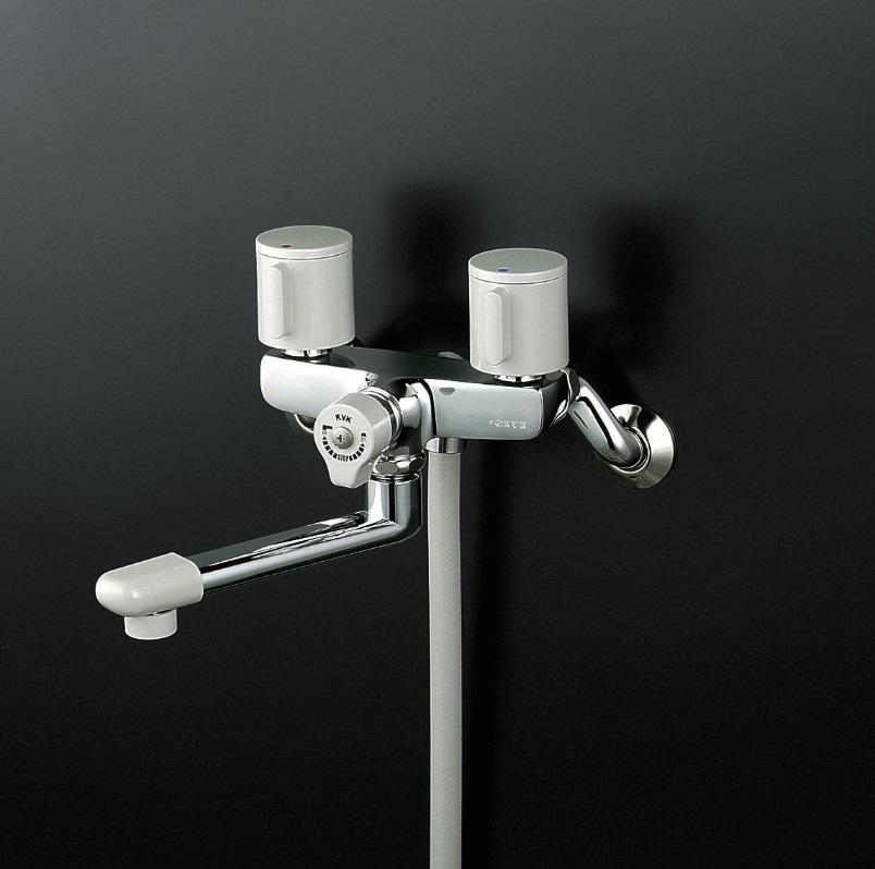 【KF141G3R24】一時止水付2ハンドルシャワー240mmパイプ付
