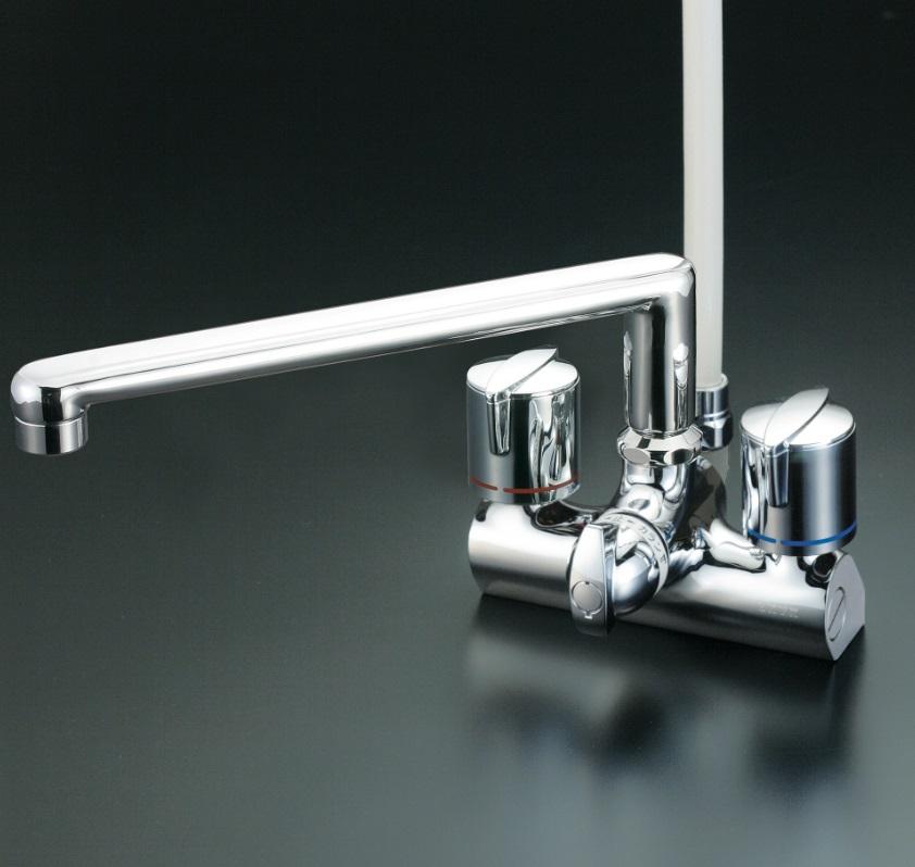【KF206G】デッキ形一時止水付2ハンドルシャワー
