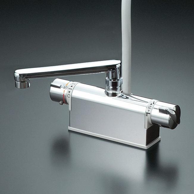 【KF771NTR2】デッキ型サーモスタット式シャワー 取付ピッチ85mm 吐水口L=240mm