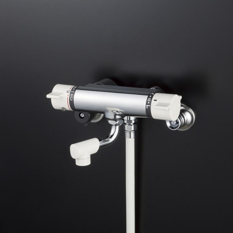【KF800NYS2】サーモスタット式シャワー 80mmパイプ ワンストップシャワー付