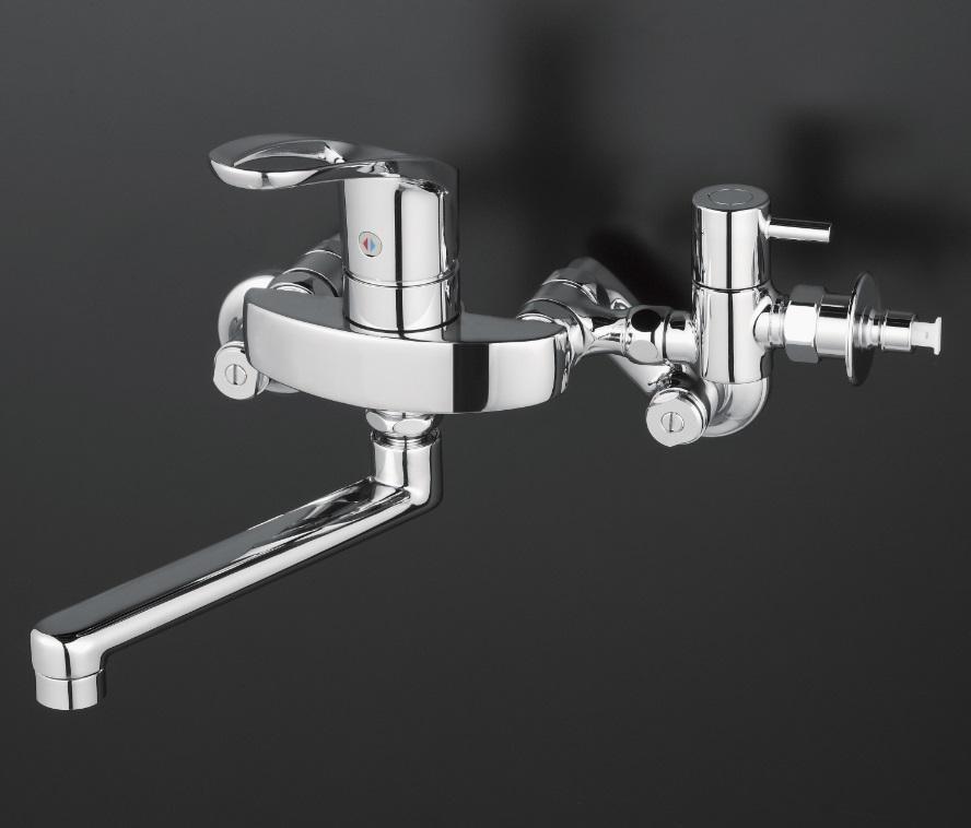 【KM5000CHTTU】シングルレバー式混合栓 分岐止水栓付 とめるゾウ付