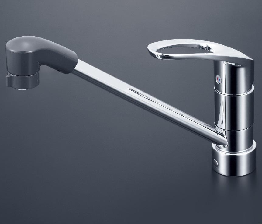 【KM5011ZJTF】流し台用シングルレバー式シャワー付混合栓