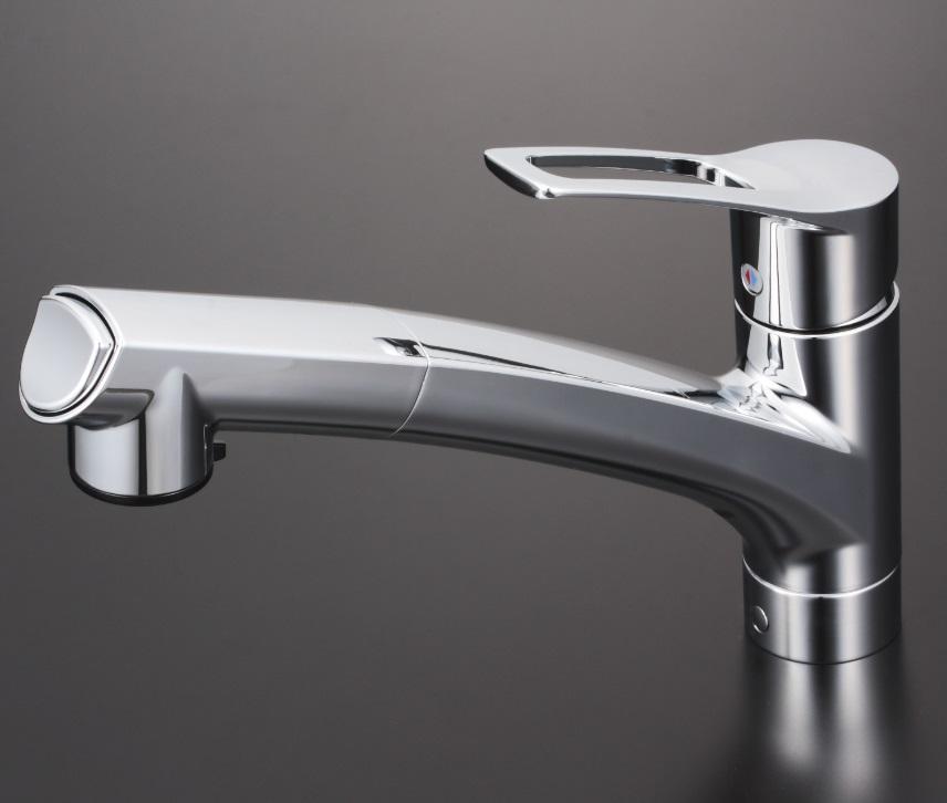 【KM5021ZJT】流し台用シングルレバー式シャワー付混合栓