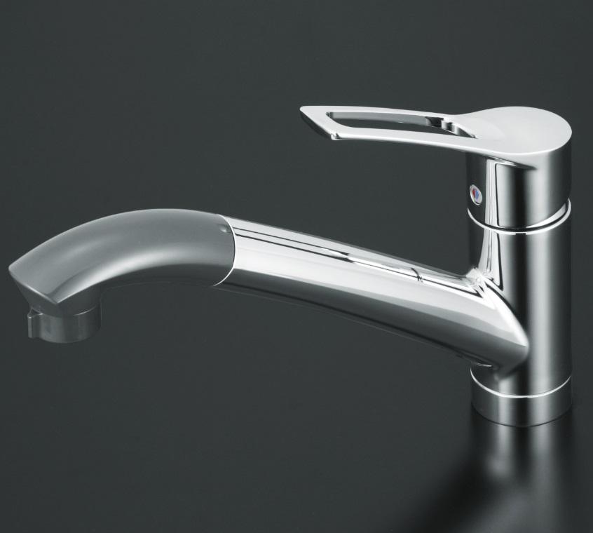 【KM5031Z】流し台用シングルレバー式シャワー付混合栓