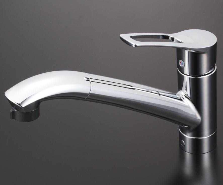 【KM5031ZJT】流し台用シングルレバー式シャワー付混合栓