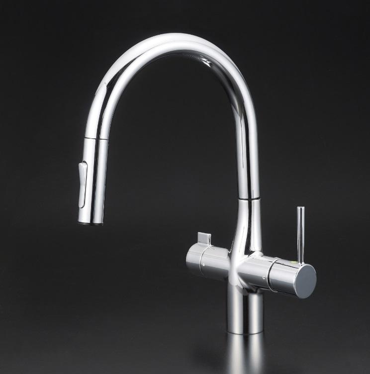 【KM6081SCEC】浄水器付シングルレバー式シャワー付混合栓