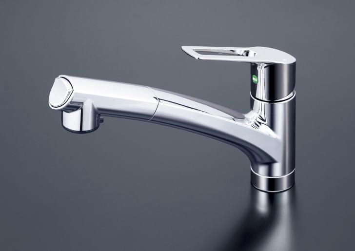 【KM5021TEC】eレバー 流し台用シングルレバー式シャワー付混合栓