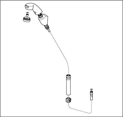 【HC583N】旧MYM洗髪水栓用ホルダー組(壁付タイプ)