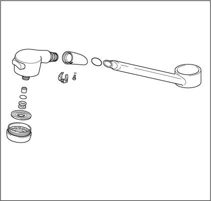 【KPP505NFK2】旧MYMキッチン水栓用パイプ(寒冷地)