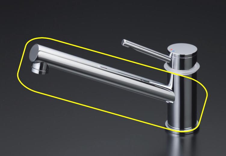 【Z646】吐水口 KM706シリーズ用吐水パイプ