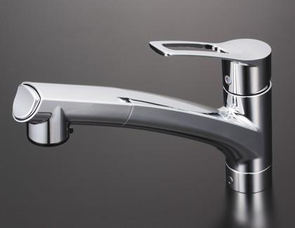 【KM5021JT】流し台用シングルレバー式シャワー付混合栓