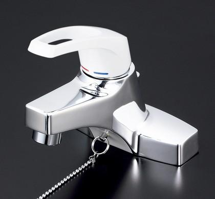 【KM7014T2】洗面用シングルレバー式混合栓・ゴム栓付