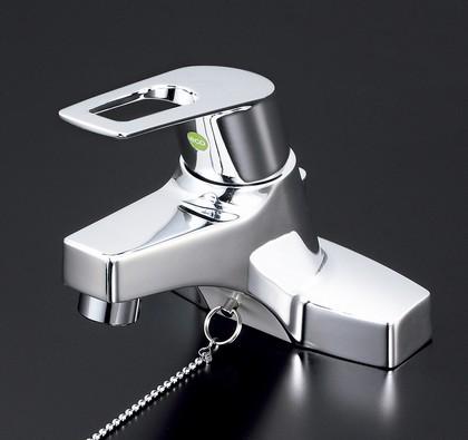 【KM7014TEC】洗面用シングルレバー式混合栓・ゴム栓付