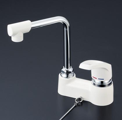 【KM7024GS】洗面用シングルレバー式混合栓・ゴム栓付