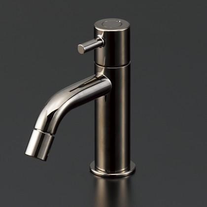 【手洗い用単水栓≪黒ニッケルめっき≫】LFK612X-BN