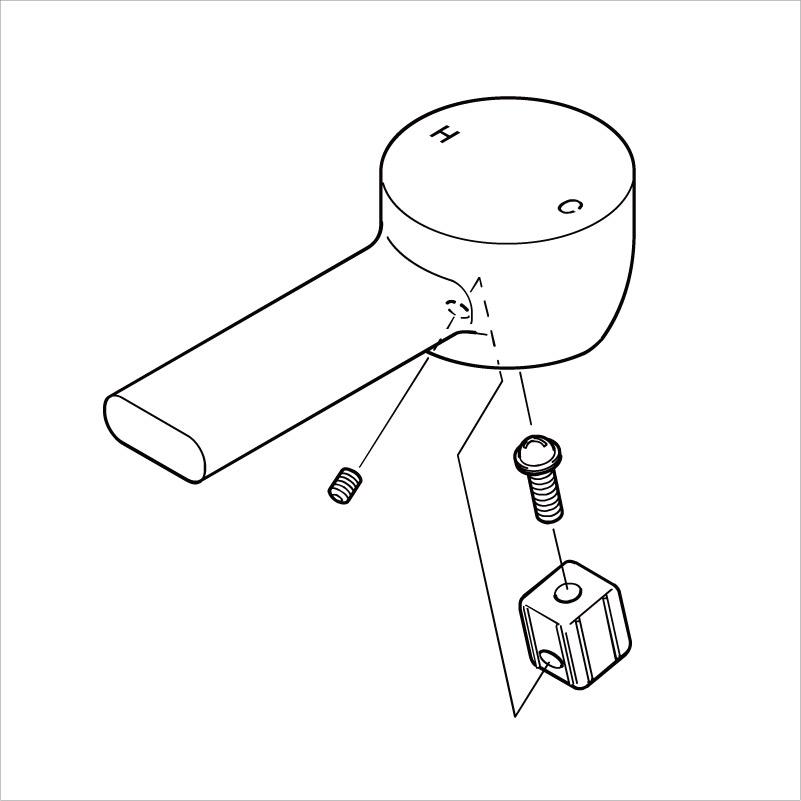【ZK1S908】レバーハンドルセット