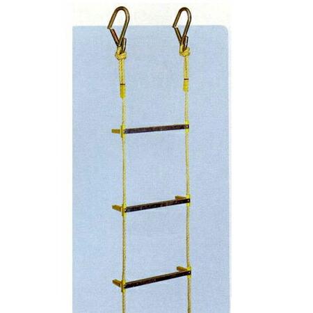 【避難用縄はしご 8m】 縄ばしご 縄梯子 防災 簡易昇降はしご