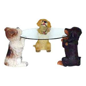 【犬ガラステーブルN50JF6191401】送料無料!【smtb-kd】