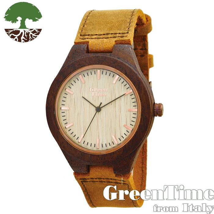 GreenTime 【ベーシック ZW022G】 レディース 腕時計 木製 【正規輸入品】 Zzero 「FSC認証」